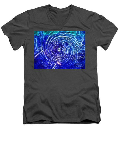 Electric Glass Light 4 Men's V-Neck T-Shirt