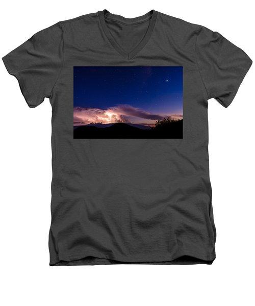 Electric Heavens 1 Men's V-Neck T-Shirt