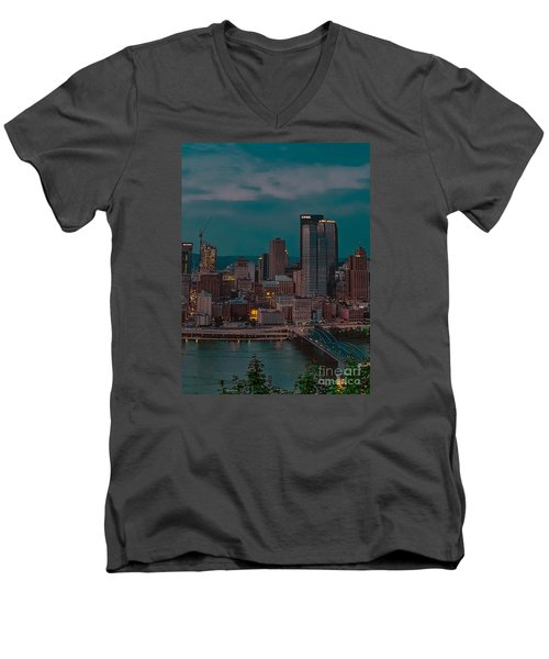 Electric Steel City Men's V-Neck T-Shirt