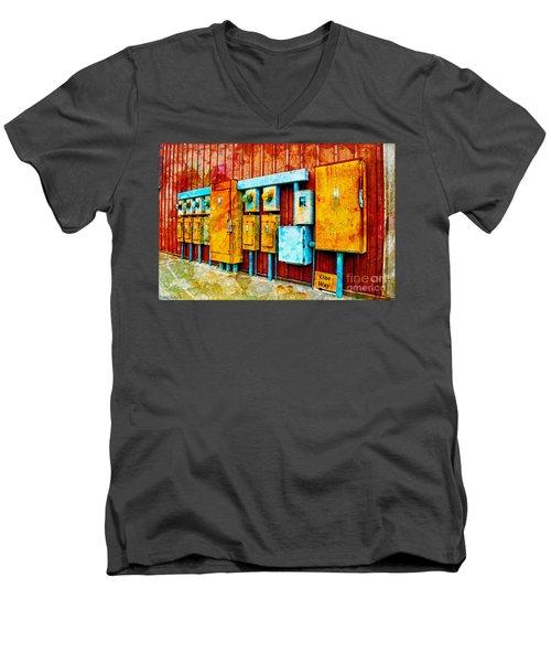 Electrical Boxes Iv Men's V-Neck T-Shirt
