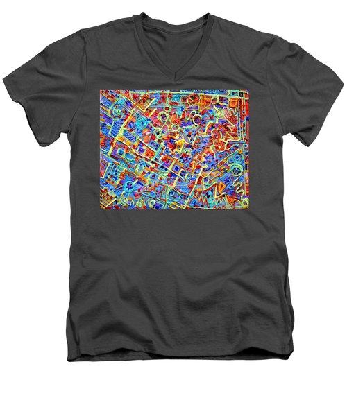 Electronics For Cats Men's V-Neck T-Shirt