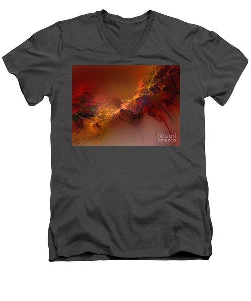 Elemental Force-abstract Art Men's V-Neck T-Shirt by Karin Kuhlmann
