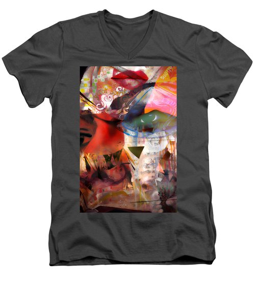 Elements Of Estrogen  Men's V-Neck T-Shirt by Jerry Cordeiro