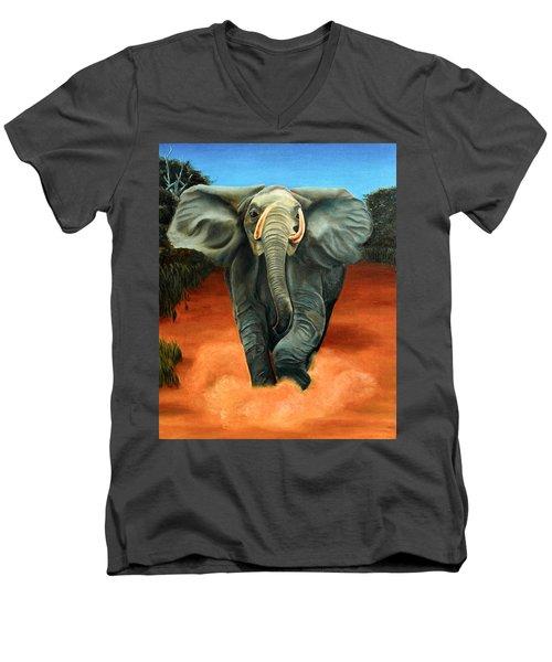 Elephant Men's V-Neck T-Shirt