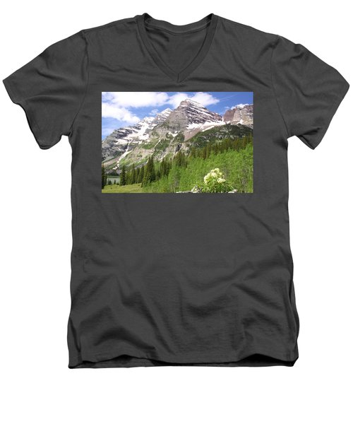 Elk Mountains Men's V-Neck T-Shirt by Eric Glaser
