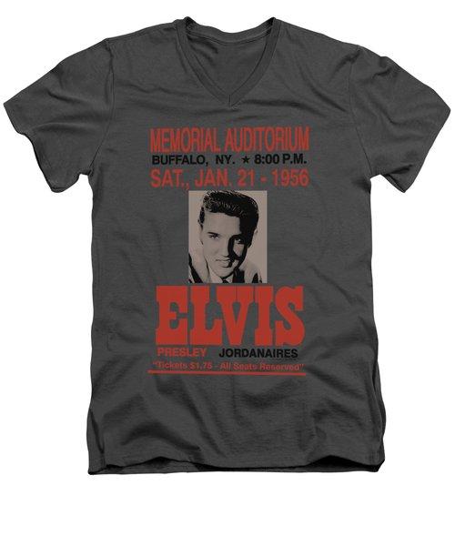 Elvis - Buffalo 1956 Men's V-Neck T-Shirt