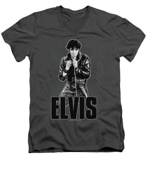 Elvis - Leather Men's V-Neck T-Shirt by Brand A