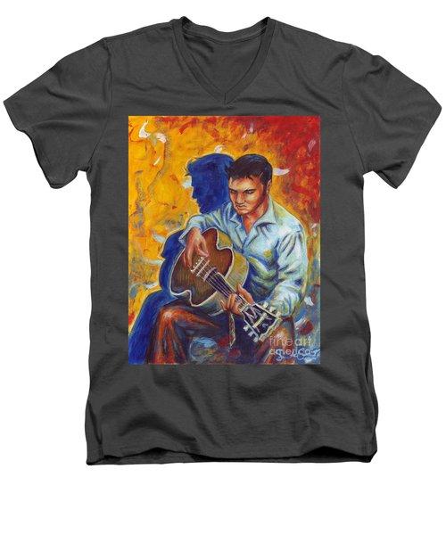Elvis Presley- Shadow Duet Men's V-Neck T-Shirt