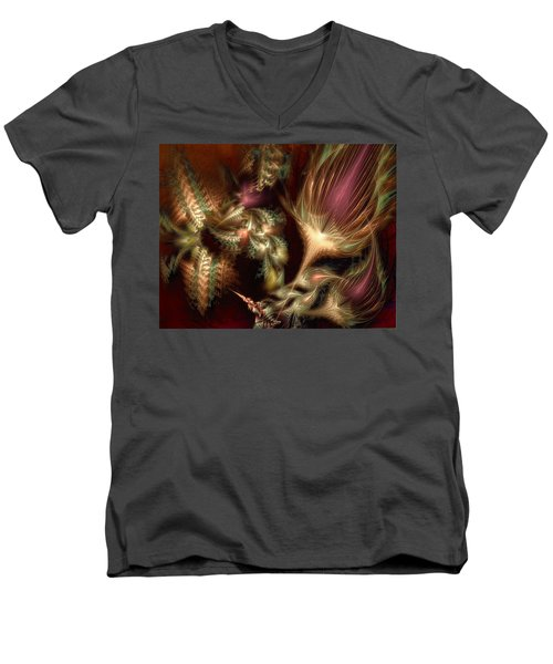 Elysian Men's V-Neck T-Shirt by Casey Kotas
