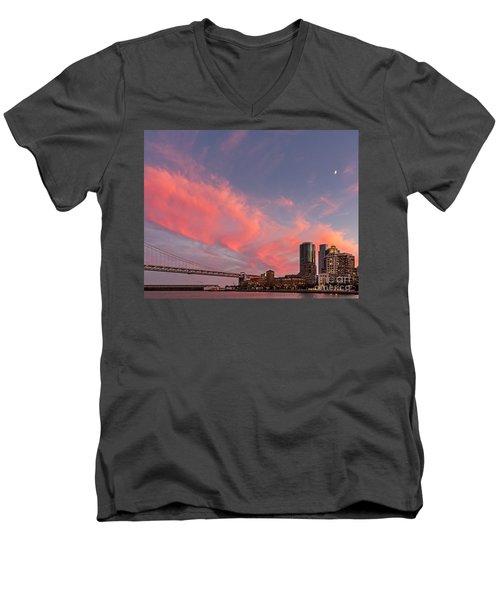 Embarcadero Sunset Men's V-Neck T-Shirt