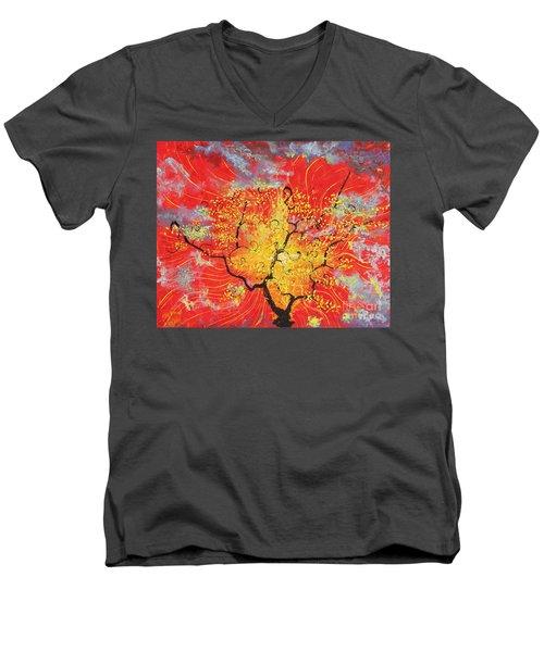 Embracing The Light Men's V-Neck T-Shirt