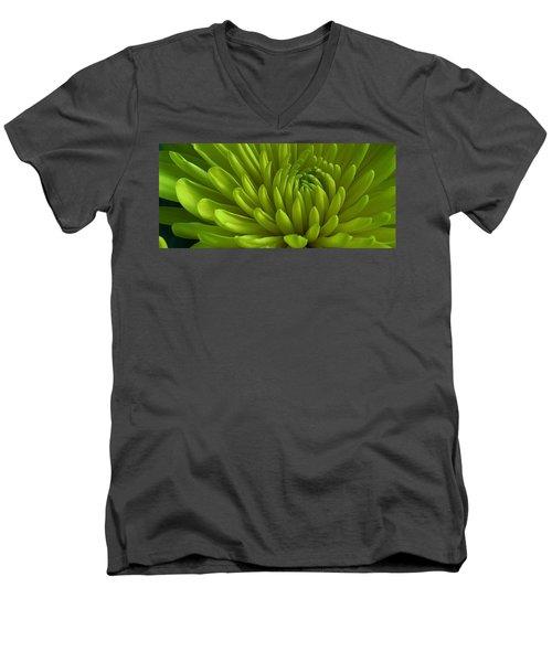 Emerald Dahlia Men's V-Neck T-Shirt by Bruce Bley
