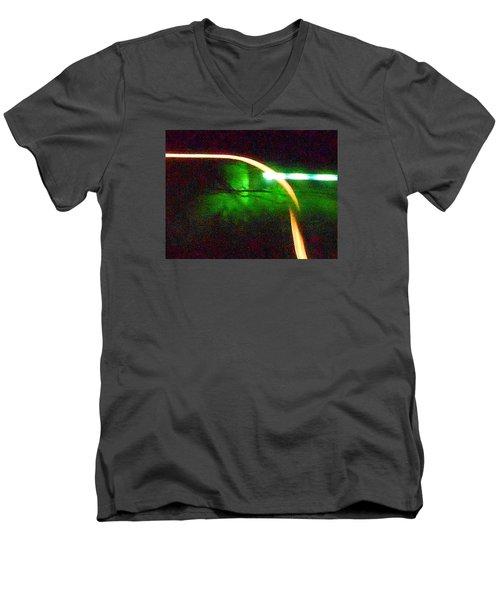 Emerald Fusion Men's V-Neck T-Shirt