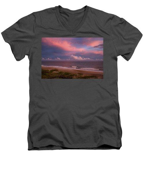 Emerald Isle Sunset Men's V-Neck T-Shirt