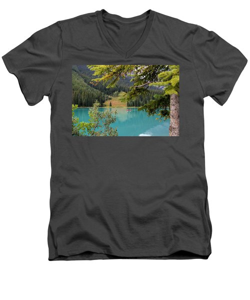 Emerald Lake British Columbia Men's V-Neck T-Shirt by Lynn Bolt