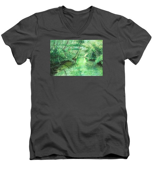 Emerald Stream Men's V-Neck T-Shirt
