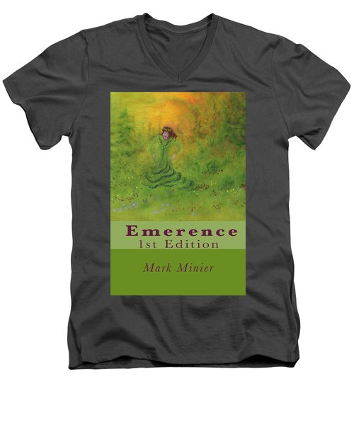 Emerence 156 Page Paperback. Men's V-Neck T-Shirt by Mark Minier