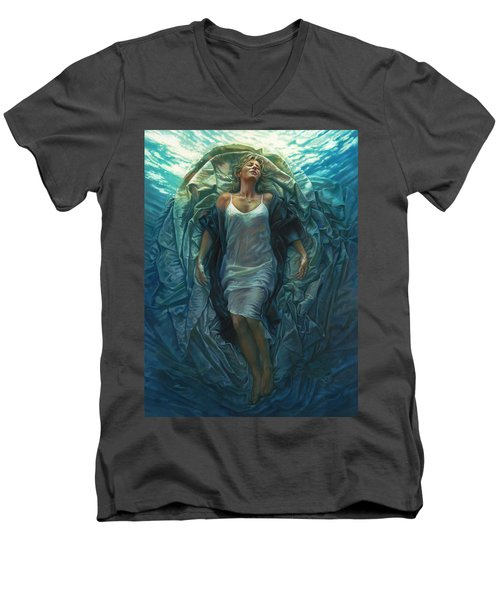 Emerge Painting Men's V-Neck T-Shirt