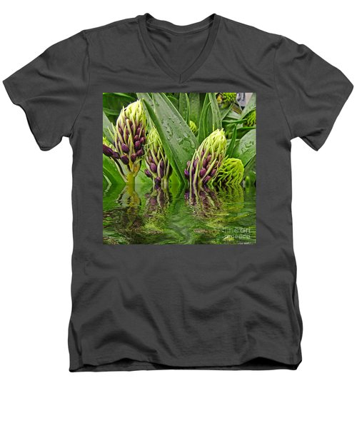 Emerging Men's V-Neck T-Shirt by Debbie Portwood