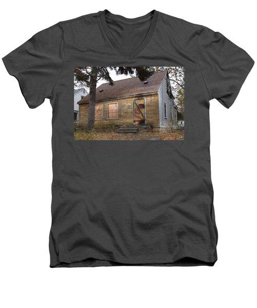 Eminem's Childhood Home Taken On November 11 2013 Men's V-Neck T-Shirt