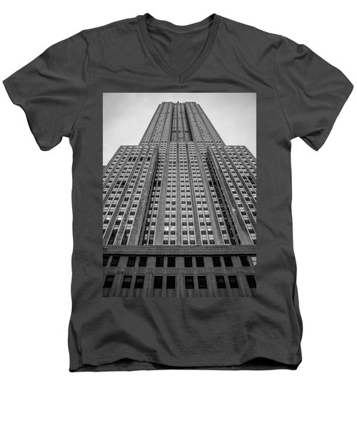 Empire State Of Mind Men's V-Neck T-Shirt by Jonathan Davison