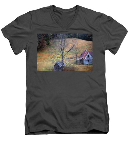 Men's V-Neck T-Shirt featuring the photograph Empty Nest by Faith Williams