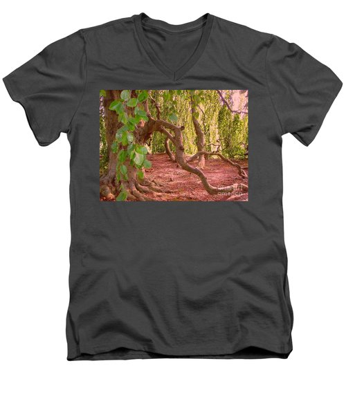 Men's V-Neck T-Shirt featuring the photograph Enchanted by Becky Lupe