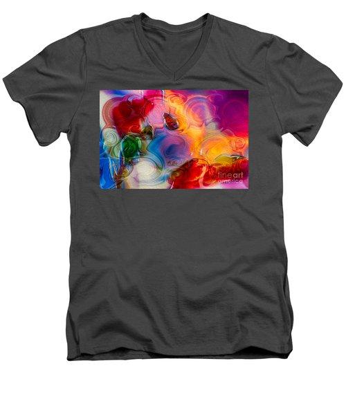 Enchanting Flames Men's V-Neck T-Shirt