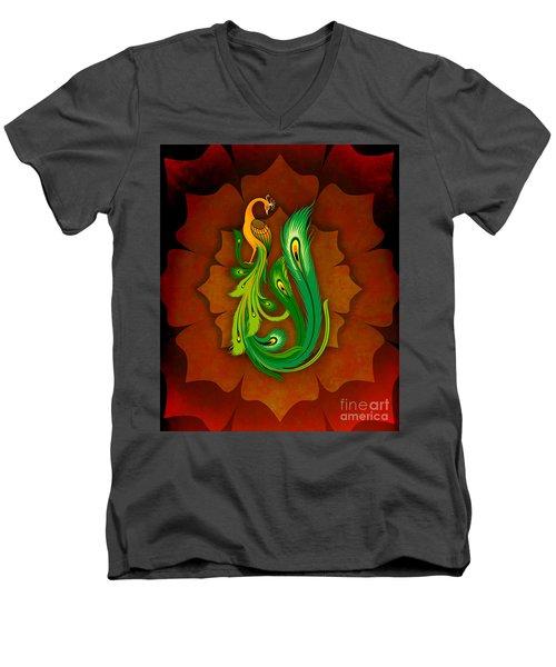 Enchanting Peacock 1 Men's V-Neck T-Shirt