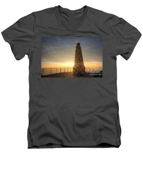 Ensign Peak Nature Park Utah Men's V-Neck T-Shirt by Michael Ver Sprill