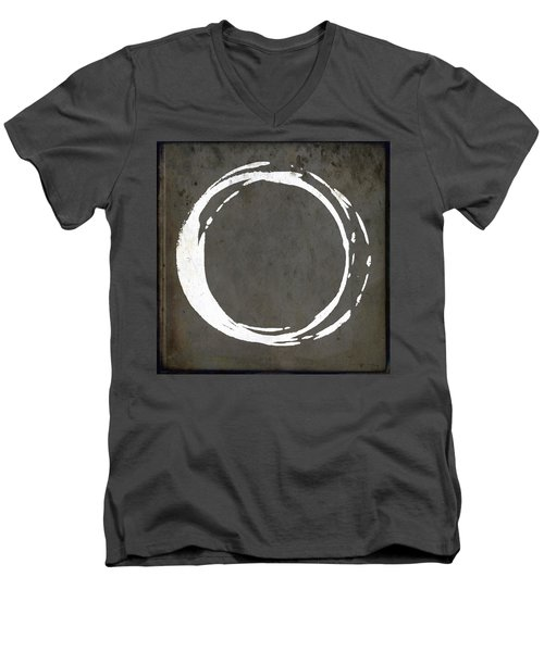 Enso No. 107 Gray Brown Men's V-Neck T-Shirt