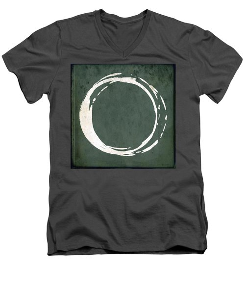 Enso No. 107 Green Men's V-Neck T-Shirt