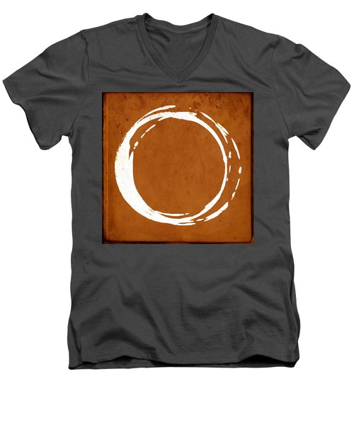 Enso No. 107 Orange Men's V-Neck T-Shirt
