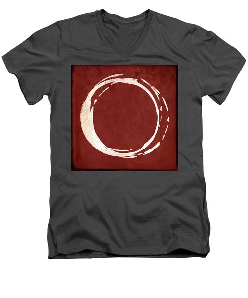 Enso No. 107 Red Men's V-Neck T-Shirt