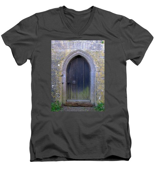 Enter At Your Own Risk Men's V-Neck T-Shirt by Suzanne Oesterling