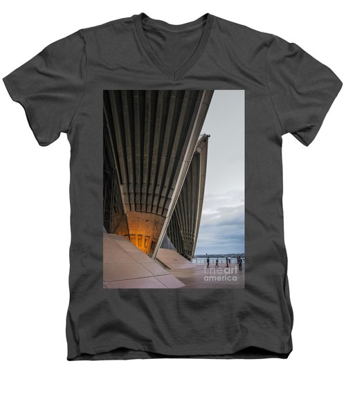 Entrance To Opera House In Sydney Men's V-Neck T-Shirt