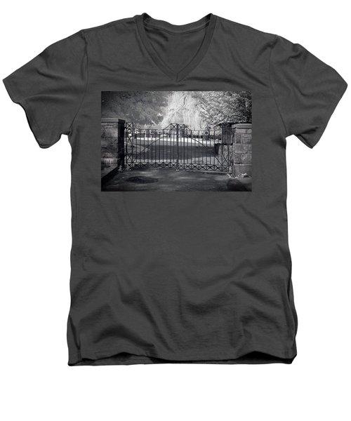 Entry To Salem Willows Men's V-Neck T-Shirt