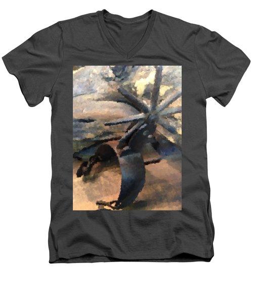 Equestrian Discipline Men's V-Neck T-Shirt by Julio Lopez