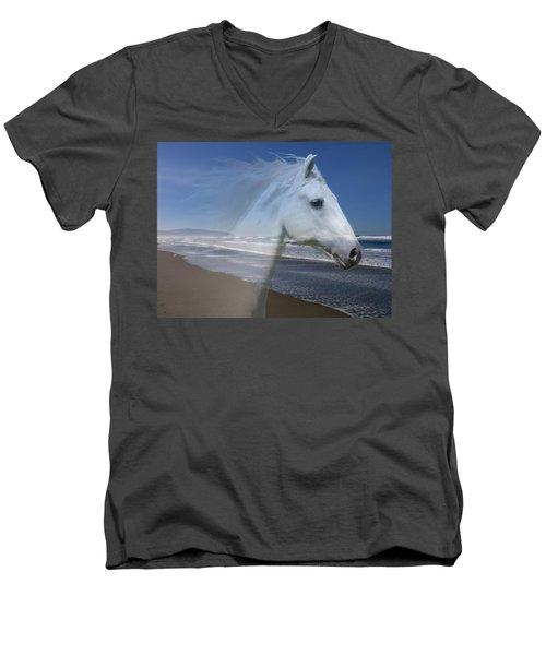 Equine Shores Men's V-Neck T-Shirt