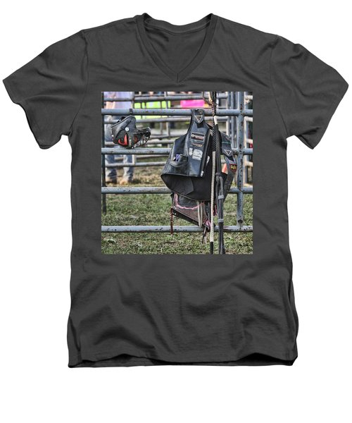 Equipment Men's V-Neck T-Shirt by Denise Romano