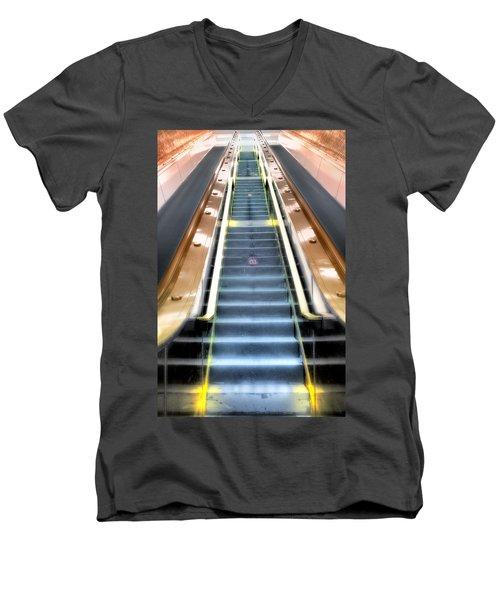 Escalator To Heaven Men's V-Neck T-Shirt