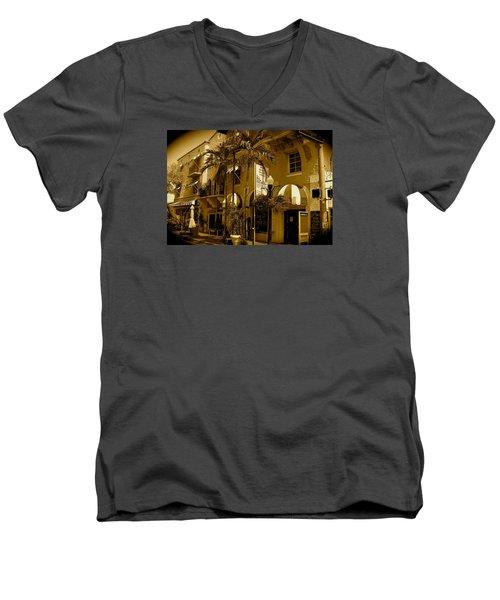 Espanola Way In Miami South Beach Men's V-Neck T-Shirt