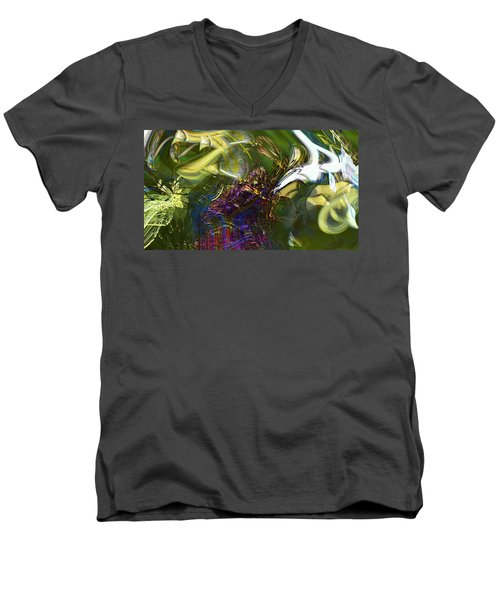 Men's V-Neck T-Shirt featuring the photograph Esprit Du Jardin by Richard Thomas