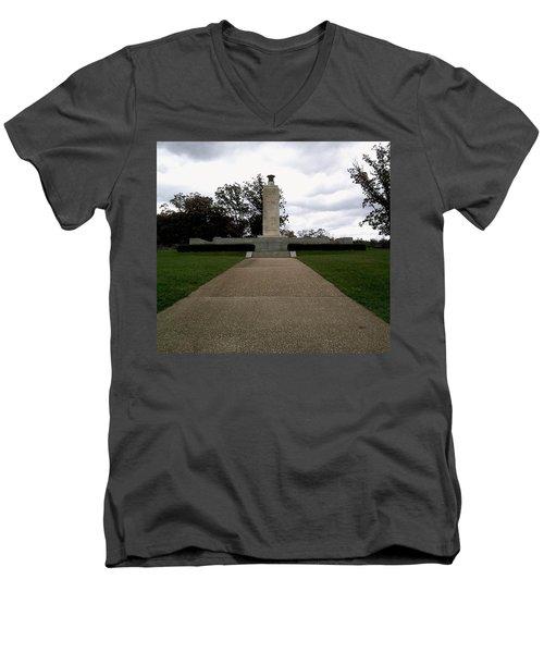 Men's V-Neck T-Shirt featuring the photograph Eternal Light Peace Memorial by Amazing Photographs AKA Christian Wilson