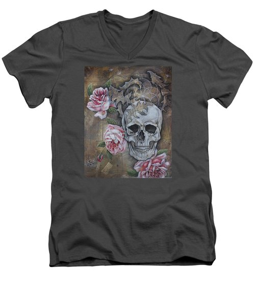 Men's V-Neck T-Shirt featuring the painting Eternal by Sheri Howe