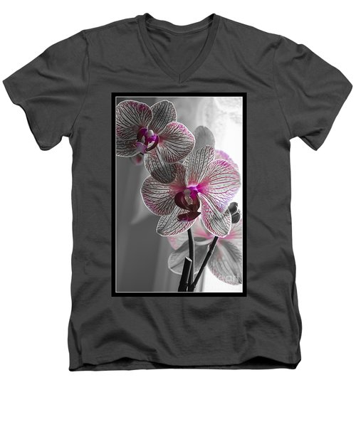Ethereal Orchid Men's V-Neck T-Shirt by Bianca Nadeau