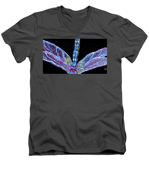 Ethereal Wings Of Blue Men's V-Neck T-Shirt by Kimberlee Baxter