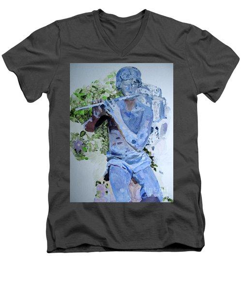 Etude Men's V-Neck T-Shirt by Sandy McIntire