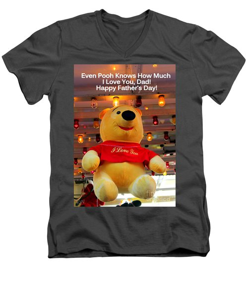 Even Pooh Knows Card Men's V-Neck T-Shirt