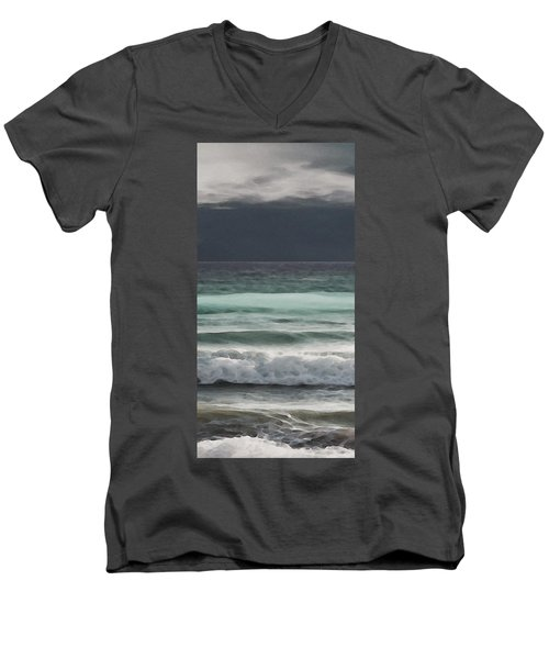 Even Tides Men's V-Neck T-Shirt by David Hansen